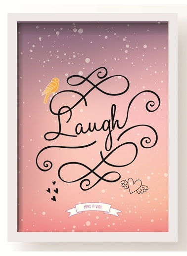Laugh Poster-All About Wall